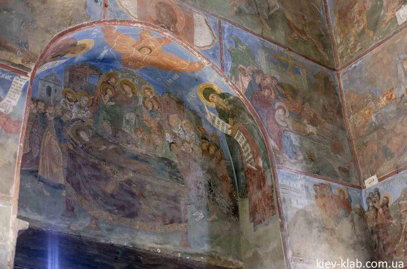 Восстановленые фрески церковь Спаса на Берестове