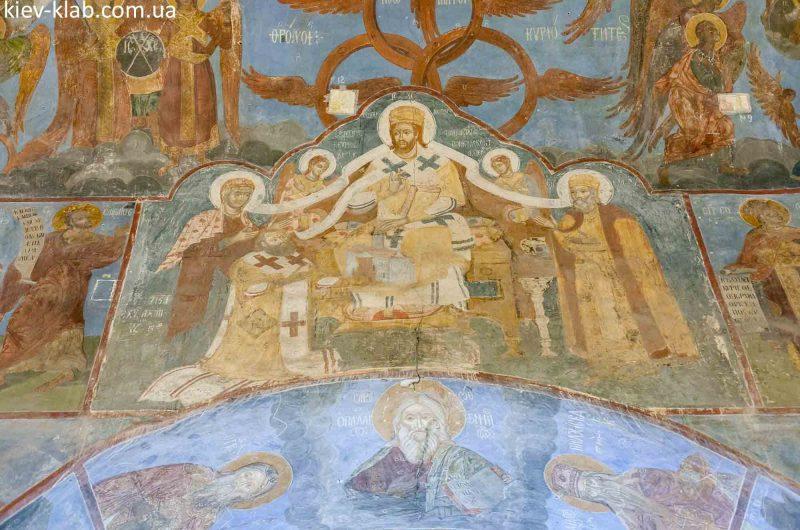 Пётр Могила на фреске церковь Спаса на Берестове