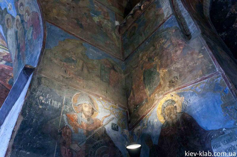 Брис и Глеб на фреске