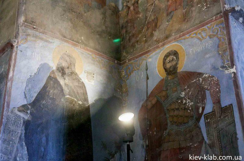 Аскольл и Дир на фреске 12 столетия