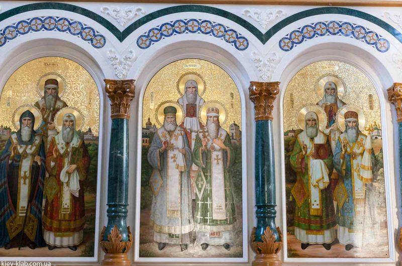 Святые угодники в храме в Ските Киево-Печерской Лавры