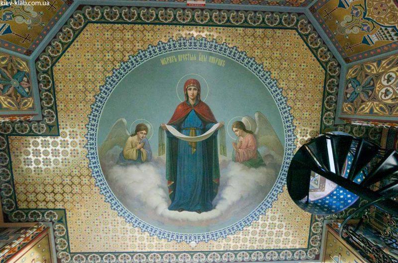 Богородица в храме в Ските Киево-Печерской Лавры