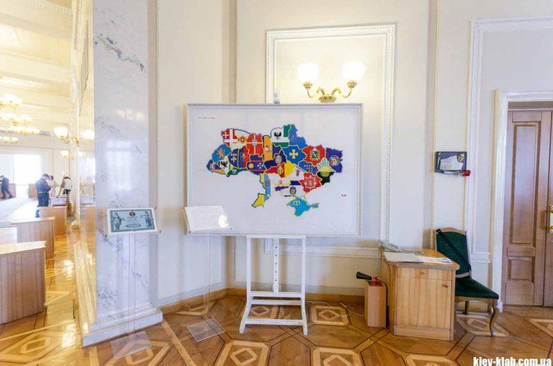 Карта Украины в ВР