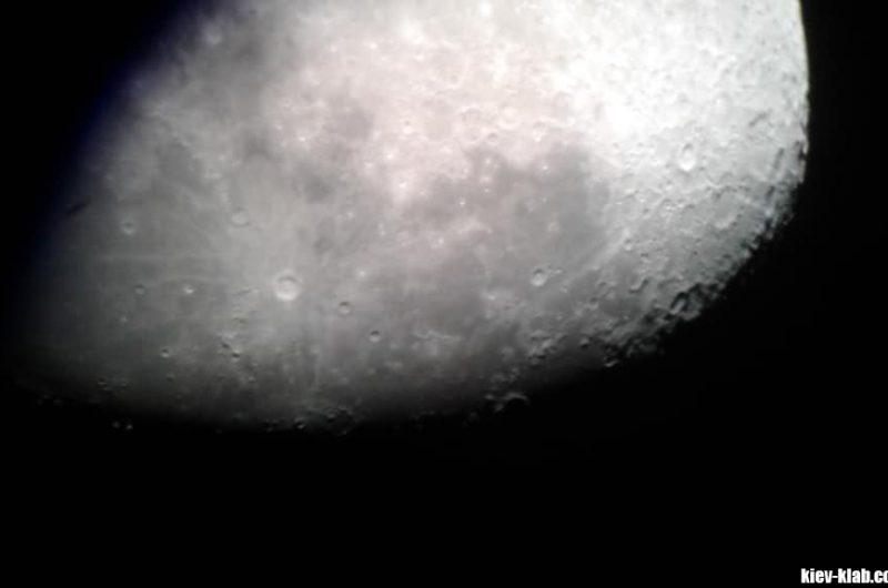 Луна в телескопе