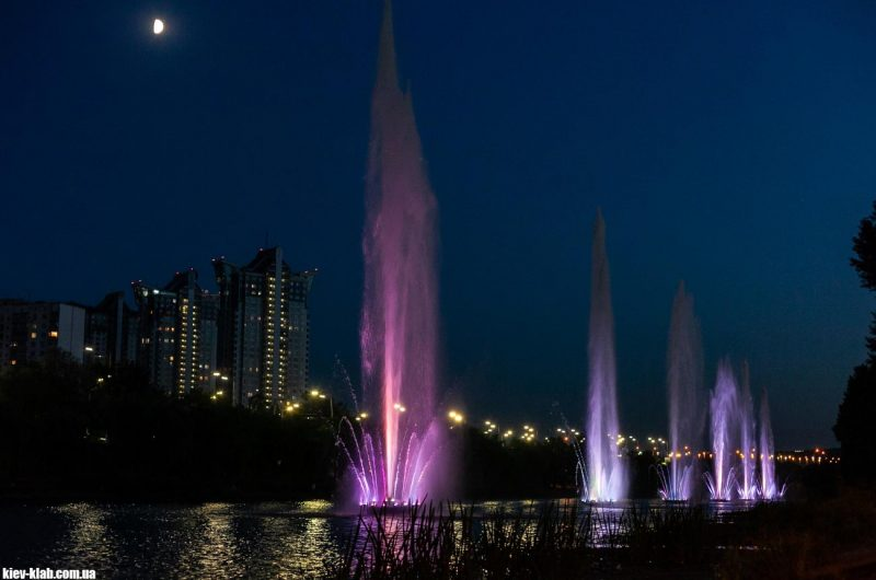 Высота русановских фонтанов