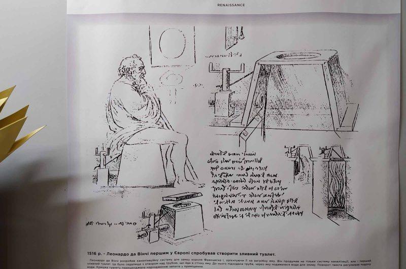 Туалет Леонардо Да Винчи