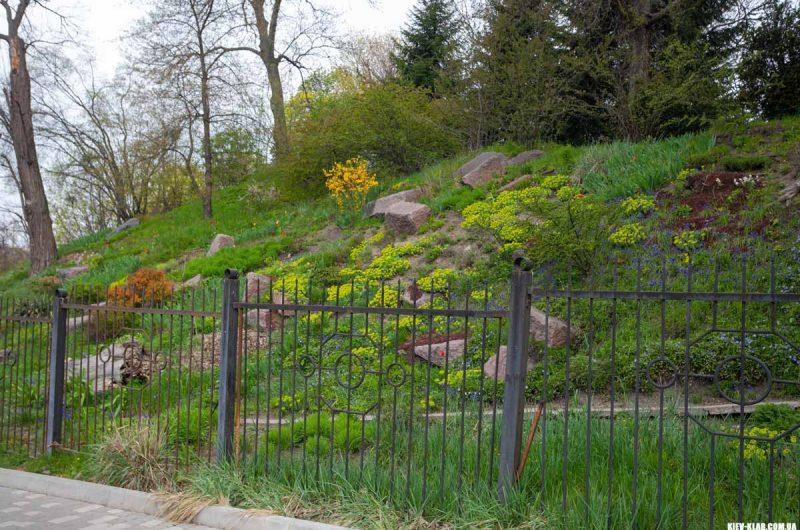 Закрытая часть ботанического сада Фомина
